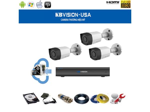3 Camera 1.0 MP KBVision